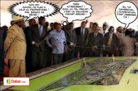 Les président Macky Sall et Alpha Condé ont visité le chantier du pôle urbain de Diamniadio, à quelques kilomètres de Dakar